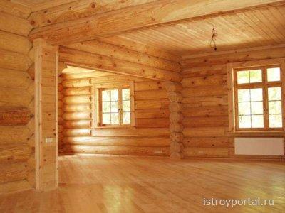 Отделка деревянных стен