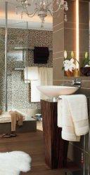 Тропический дизайн ванной комнаты