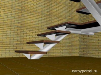 Строим лестницу на центральном косоуре