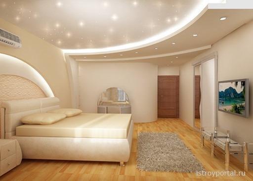 Дизайн потолка для спальни » Все о строительстве, ремонте ...