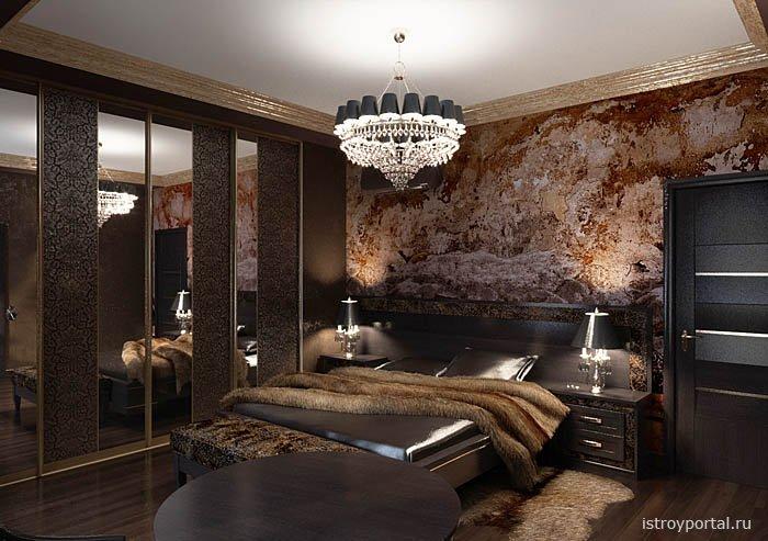 Дизайн спальни арт-деко фото