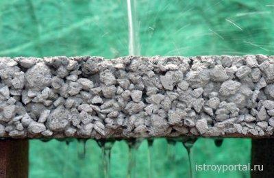 Приготовление крупнопористого бетона