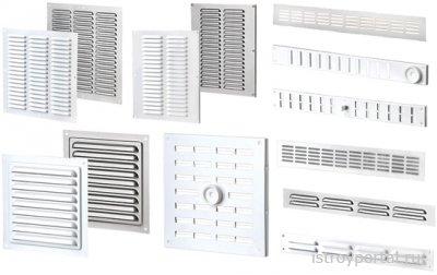 Некоторые виды вентиляционных решеток