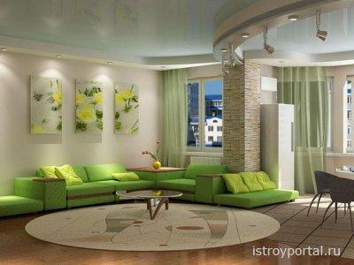 Как влияет зеленый цвет интерьера на человека?
