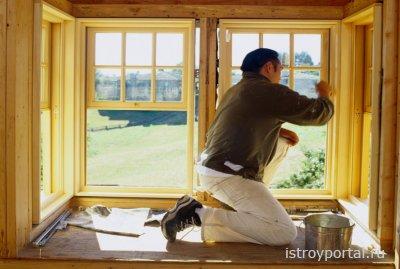 Окраска и утепление деревянных окон