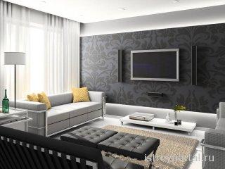 Планировка интерьера гостиной комнаты