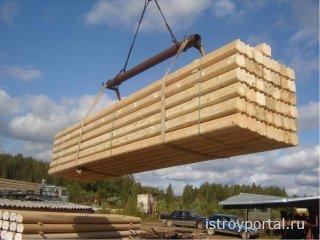 Профилированное бревно для деревянного дома