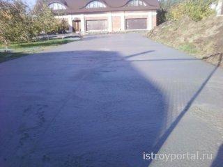 Как построить бетонную подъездную дорожку