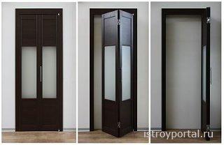 Как установить складные двери