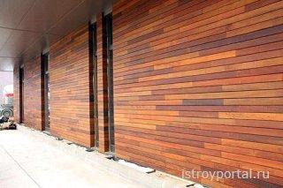 Натуральный сайдинг на основе древесины
