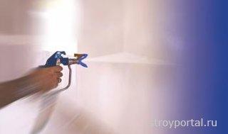 Окраска с помощью безвоздушного распыления
