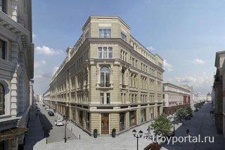 В центре Москве начали реставрировать дома