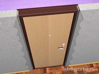 Как установить металлическую входную дверь?