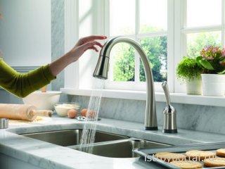 Установка водопроводного крана и смесителя