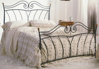 Обустройство спальни. Кованые кровати