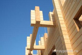 Клееный брус в строительстве