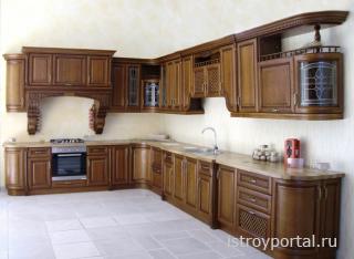 Меблировка кухни - деревянные столешницы