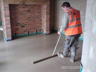 Расчёт количества бетона для стяжки пола
