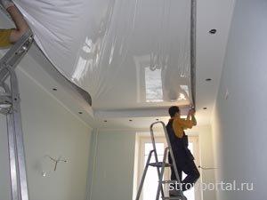 Как установить натяжные потолки?