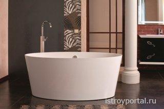 Преимущества использования ванн из камня
