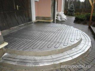Использование теплого пола на улице
