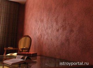 Использование декоративных покрытий при отделке стен